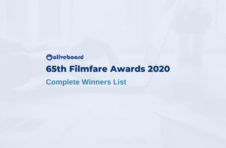 Filmfare 2020 Winners