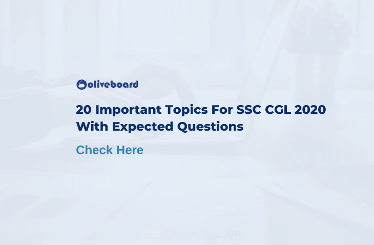 SSC CGL Important Topics